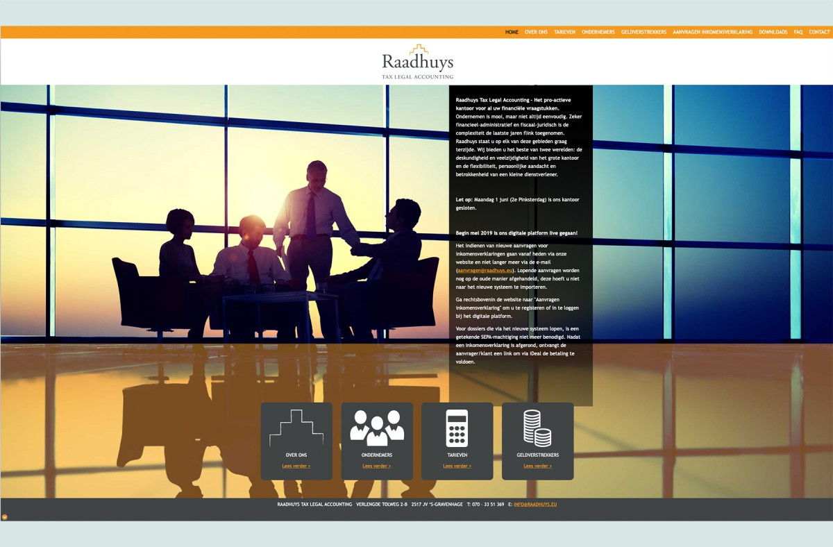 Website Raadhuys Tax Legal Accounting
